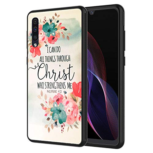 Galaxy A30 Case, Galaxy A20 Case, AIRWEE Slim Shockproof Silicone TPU Back Protective Cover Case for Samsung Galaxy A30/A20,Christian Quotes Bible Verses Philippians