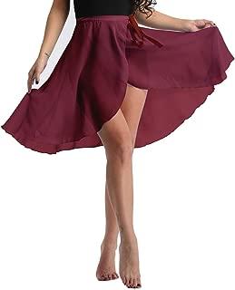 Women's Ladies Ballet Dance Wrap Skirt Chiffon Over Scarf Dance Skirt