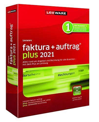 Lexware faktura+auftrag 2021|plus-Version Minibox (Jahreslizenz)|Einfache Auftrags- und Rechnungs-Software für alle Branchen|Kompatibel mit Windows 8.1 oder aktueller|Plus|1|1 Jahr|PC|Disc