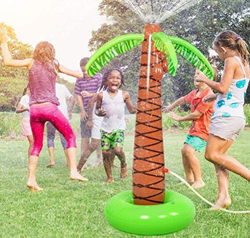 Sprinkler Pad Sprinkler Speelmat Opblaasbare Splash Palmboom Yard Pad Waternevel Speelgoed voor kinderen Tuin Buiten Waterspeelgoed Opblaasbaar waternevel Spelletjes