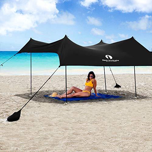 Red Suricata Family Beach Sun Shade