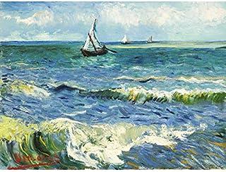 Vincent Van Gogh Zeegezicht Bij Les Saintes Maries De La Mer Art Impression sur toile de qualité supérieure Décoration murale