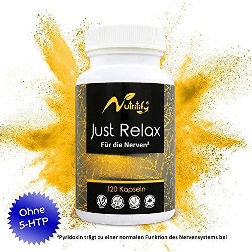 FÜR DIE NERVEN² von nutritify JUST RELAX - natürlicher Stimmungsaufheller mit B6² für die...
