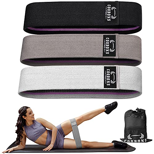 Resistance Bands for Legs and Butt - Exercise Bands Hip Bands Workout Bands Booty Fitness Bands, Glute Bands for Women and Men,Elastic Strength Squat Band, Non Slip (Set 3)