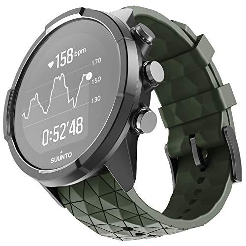 NotoCity Armband für Suunto 9 Spartan/Titanium/Smart Watch GPS/Suunto Spartan Sport Wrist HR, 24mm Premium Silikon QuickFit Armbänder für Suunto 9, Mehrfache Farben (Armee Grün)