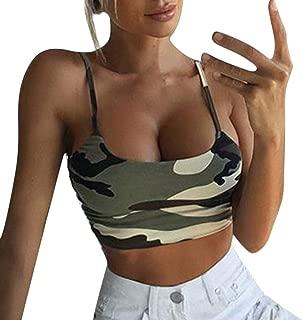 Crop Tops for Womens, FORUU Summer Sexy Casual Deep U Neck Short Tee Vest Tank