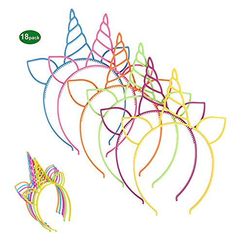 Review Usting 18 Pack Unicorn Headbands, Kids Girl Children Birthday Party Favors Supplies Cat Ear H...