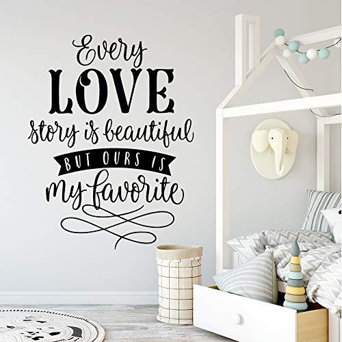 Tianpengyuanshuai Kleurrijke liefde vinyl zelfklevend behang voor kinderkamer decoratie vinyl wandtattoo 57X64cm
