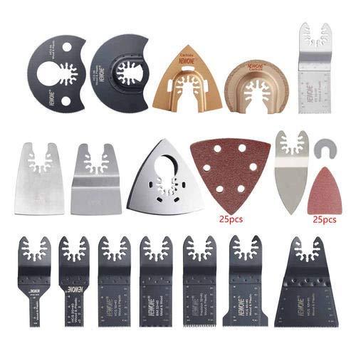 Quick Change 66 pcs Oscillating Multi Tool Saw Blades Accessories Compatiable for Fein Black&Decker Bosch Chicago Roybi Milwaukee Makita Craftsman