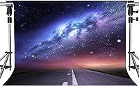 写真撮影のためのHD星空と距離道路の背景夢のような紫色の宇宙星空の背景室内装飾写真ブーススタジオ小道具7x5ftHXMT183
