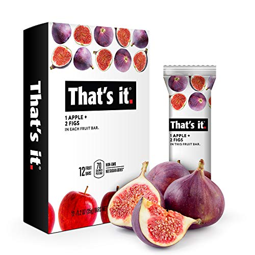 That's it. Apple + Fig Fruit Bars 100% All Natural, No Artificial Ingredients or Preservatives Delicious Healthy Snack for Children & Adults, Vegan, Gluten Free, Paleo, Kosher, Non GMO (12 Pack)