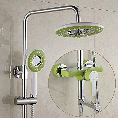 Alle drie koperen douchecabines repareren de badkamer om de warme en koude waterkranen op te tillen, de spuitkranen, de douches D