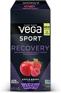 Vega 运动型支链氨基酸蛋白粉,苹果浆果(12 包, 11.52 盎司,约 326.6 克) - 纯素,非奶制品,无麸质,锻炼前恢复,支链氨基酸(包装可能有所不同)
