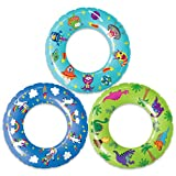 USA Toyz Inflatable Pool Floats for Kids 3 Pack - 23 Inch Pool Rings and Pool Floaties for Toddlers with Original Designs (Unicorns, Dinosaurs, Aliens)