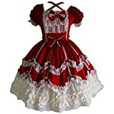 Partiss Women's Gothic Princess Cosplay Sweet Lolita Dress XL Red