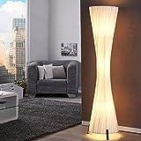 Lounge Designer STEHLAMPE SILUETA Bodenlampe Wohnzimmerlampe 160 cm weiß