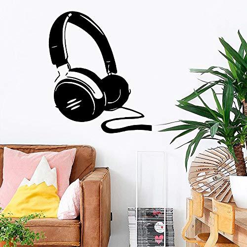 Tianpengyuanshuai grote koptelefoon vinyl sticker kinderkamer natuurlijke decoratieve muurtattoos decoratie woonkamer slaapkamer sticker