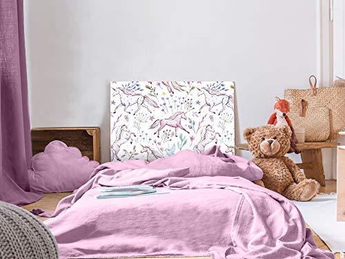 Oedim Cabecero Cama Infantil PVC Unicornios 100x60cm | Disponible en Varias Medidas | Cabecero Ligero, Elegante, Resistente y Económico