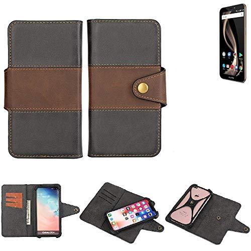 K-S-Trade® Handy-Hülle Schutz-Hülle Bookstyle Wallet-Case Für Allview X4 Soul Infinity Z Bumper R&umschutz Schwarz-braun 1x