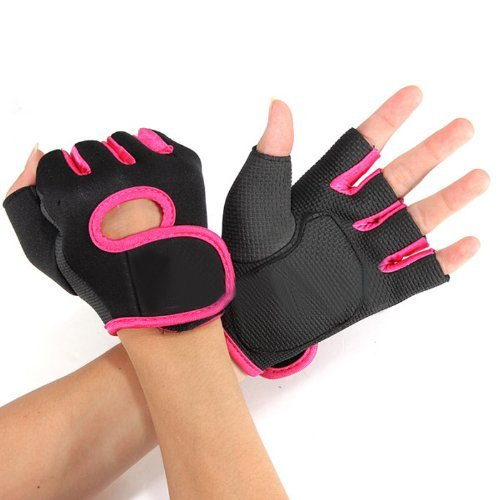 Flammi Women's Exercise Gloves Fitness Gym Workout Gloves Fundamental Training Gloves (Pink)