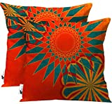 UBU Republic Boho Pillow Covers - Set of 2-18 Inch Indoor/Outdoor Moroccan Bohemian Throw Pillow (18X18 Cover only)