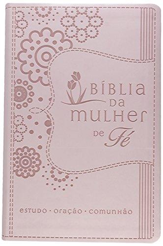 Bíblia da Mulher de Fé, NVI, Couro Soft, Rosa