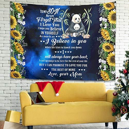Gaolucky Panda Sohn Mama Mehrfarbig Tapisserie Wandbehang Tagesdecke mit ethnische dekorative für Schlafzimmer Wohnheim Dekor White 200x150cm