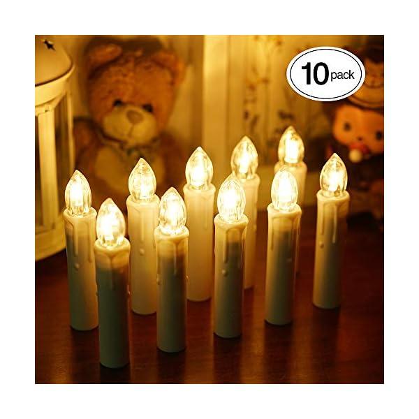 ShinePick-10er-Set-Led-Kerzen-Weihnachtsbaum-Kerzen-Flackernde-Flamme-Fernbedienung-Timerfunktion-Einstellbare-Helligkeit-Batteriebetrieben-Wasserdichte-mit-Kerzenhalter-Clips