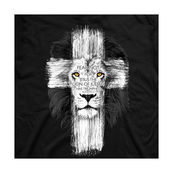 Lion Cross T-Shirt,Black,X-Large
