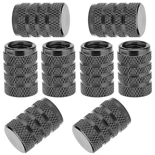 SAVITA 8 Tapas de Vástago de Válvula de Neumático, Tapa de Válvula de Neumático de Aluminio con Anillo de Goma para Coches, SUV, Bicicletas, Camiones, Motocicletas (Gris)