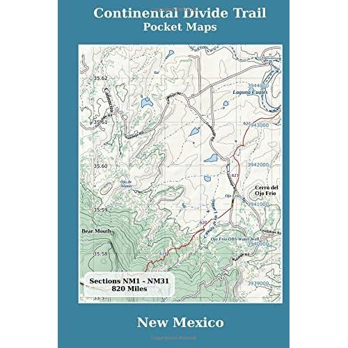 Continental Divide Trail Maps Amazon Com