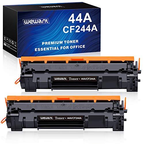 Wewant 44A CF244A Cartucce Toner Compatibile per HP 44A CF244A per HP LaserJet Pro MFP M28 M28a M28w M15 M15a M15w M17 M17a M17w M14-M17 M28-M31, Confezione da 2 Nero