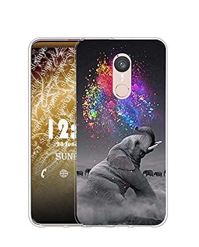 Sunrive Kompatibel mit Doogee F5 Hülle Silikon, Transparent Handyhülle Schutzhülle Etui Hülle (Q Elefant 2)+Gratis Universal Eingabestift MEHRWEG