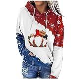 Berimaterry sudaderas para mujer con capucha casual top de Navidad moda ropa de vestir para mujer invierno 2021 chandal otoño Jerséis originales camisetas de manga larga baratos hoodies jersey Xmas