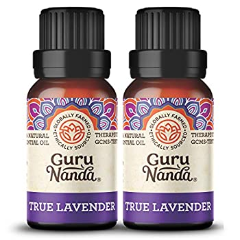 GuruNanda Lavender Essential Oil  Pack of 2 x 15ml  - 100% Pure Therapeutic-Grade Oil for Aromatherapy Stress Relief Calm and Relaxed Sleep - A Premium Soothing Fragrance for Diffuser