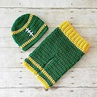 7f4eb720c58723 Crochet Baby Football Beanie Hat Pants Set NFL Team Infant Newborn Baby  Handmade Photography Photo Prop