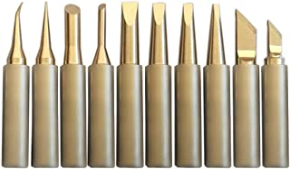 SolderFun Pure Copper Non-Magnetic 900M Soldering iron tips For HAKKO 936,937,907 Atten, Quick, Aoyue, Yihua,Vastar,Sywon,Tabiger,SOAIY and X-Tronic soldering station.10 PCS