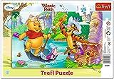Trefl - 31209 - Cadre de puzzle - Disney Winnie the Pooh - Chasse au trésor - 15 Pièces