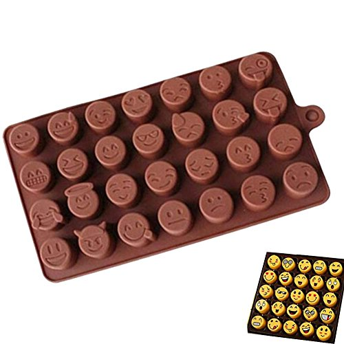 Harwls Fashion Cake Baking Mold Silicona Emoji Funny Face DIY Chocolate Sugar Candy Fondant Soap Jelly Mould Kitchen Tools