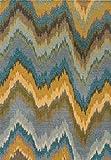 whmckl Americana Abstracta Onda geométrica asimétrica en Forma de Z Dormitorio Puerta Alfombra Sala de Estar Cocina Piso Alfombra alfombra140*200