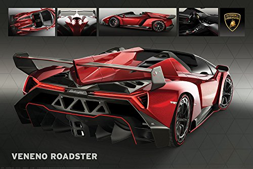Motorsport - Lamborghini Veneno Roadster - Poster - Grösse 91,5x61 cm + 1 Ü-Poster der Grösse 61x91,5cm