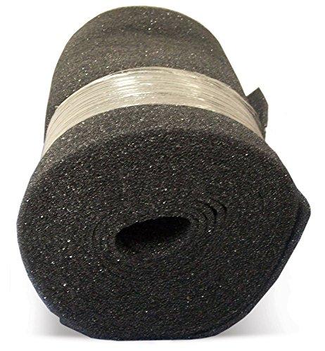 Duraflow Filtration FSR22525 Air Filter Foam Roll Media, 24' x 25' x 1/4', Dark Gray