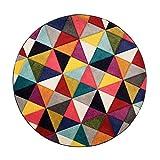 Flair Rugs Spectrum Samba - Alfombra redonda tallada a mano, 160 x 160 cm