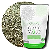 Kalmateh Yerba Mate - Traditional Organic Unsmoked Loose Leaf & Stem Tea - Rich in Antioxidants – Energy Boost, Improves Focus - 1 lb - 1 Unit