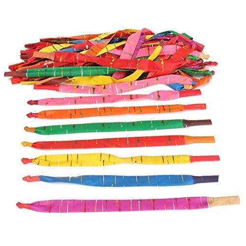 Basage 100 X Long Rocket Balloons Mit Tube Party Fillers Fun Toys Kids