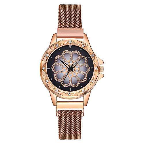 OLUYNG Reloj de Pulsera Fashion Wrist Watches Ladies Creative Flower D
