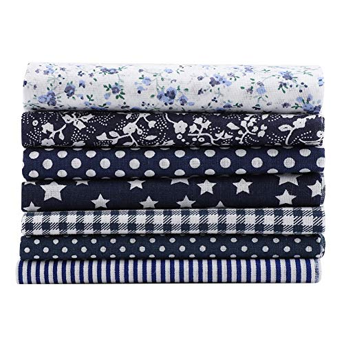 No Burr Quilt Fabric Fat Quarters, Quilt Fabric, Comfortable 100% Cotton Convenient for Crafting for Home Decoration Quilting Sewing(Navy Blue)