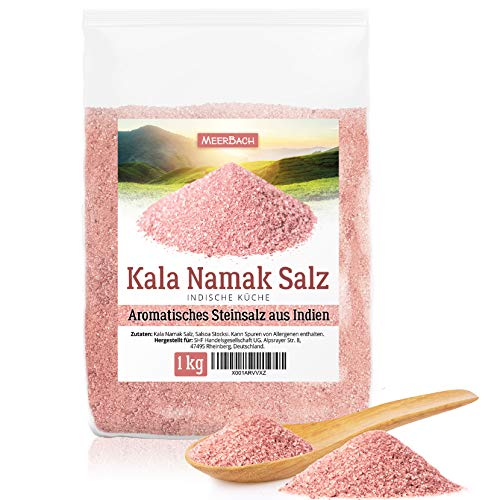 Kala Namak Salz • 1kg feines indisches Salz • jodfreies Schwarzsalz • veganer Ei-Ersatz mit einer leicht schwefeligen Note