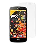 atFolix Panzerfolie kompatibel mit Acer Liquid Z530 Schutzfolie, entspiegelnde & stoßdämpfende FX Folie (3X)