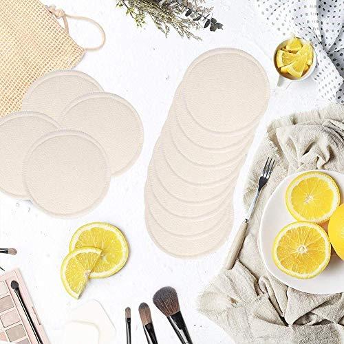 Beesuya Coton rond réutilisable Tampon de coton sans produit chimique Tampon de coton lavable et démaquillant pour la peau sensible Cosmétiques quotidiens justifiable